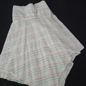 White handkerchief cut skirt
